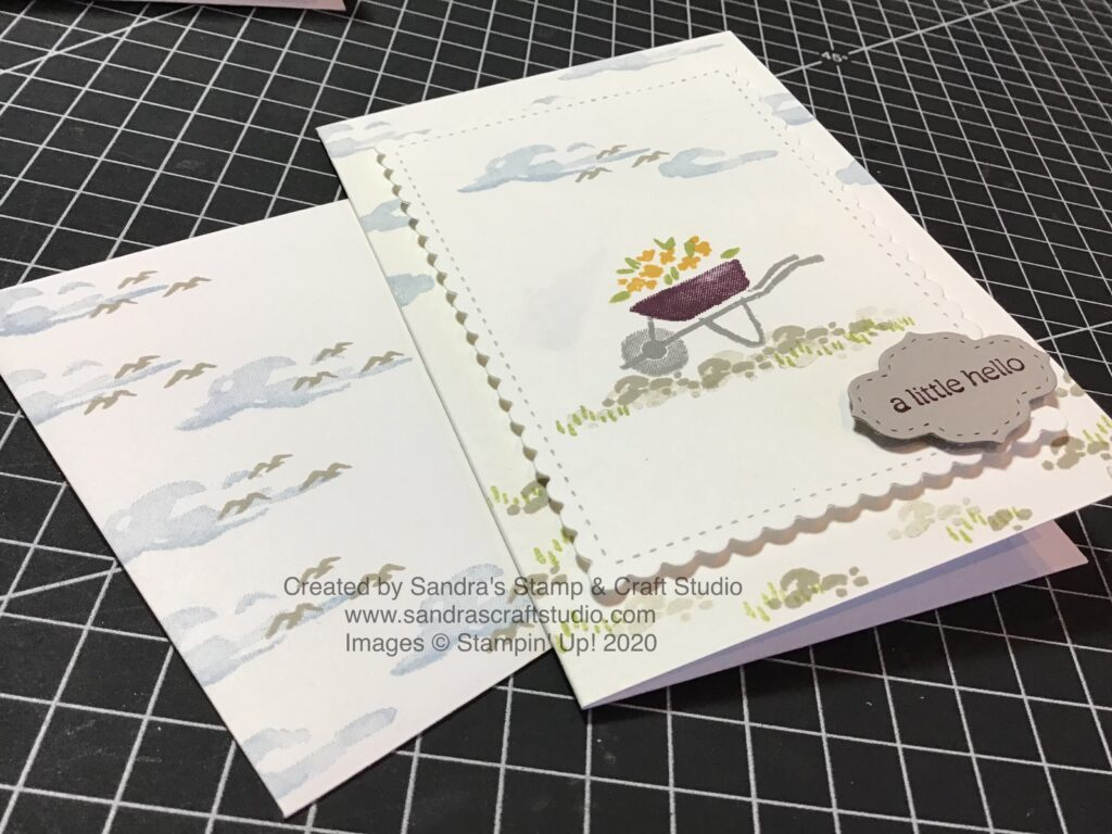 Handmade Card created using My Meadow stamp set
