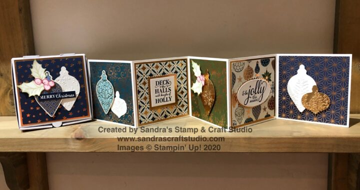 Handmade card using Gleaming Christmas Designer Series Paper