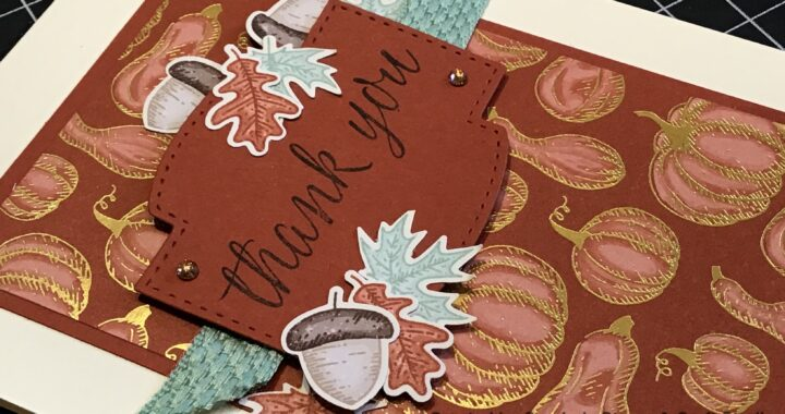 Autumnal Handmade card using Beautiful Autumn bundle from Stampin' Up!
