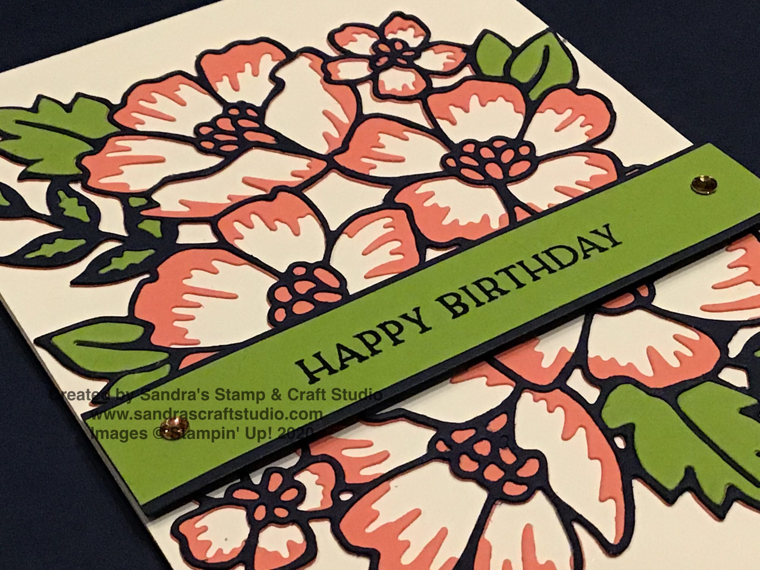 Card using Blossom in Bloom and Many Layered Blossoms Dies from Stampin' Up!