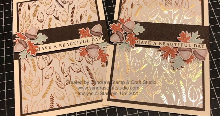 Handmade cards using Beautiful Autumn Bundle from Gilded Autumn Suite of Stampin' Up! products from my 24/7 Shop