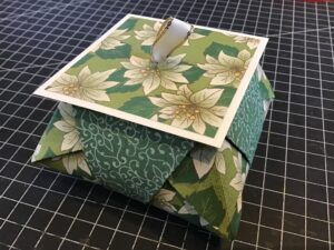 Festive Gift packaging using poinsettia Place Designer Series Paper by Stampin' Up!