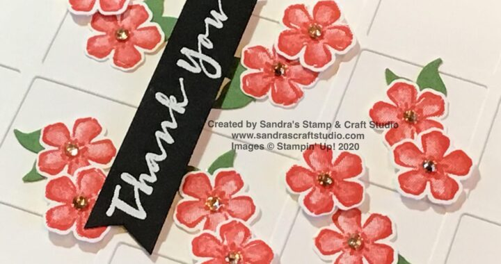 Handmade Thank You card using Sweet Strawberry stamp & punch bundle from Stampin' Up!