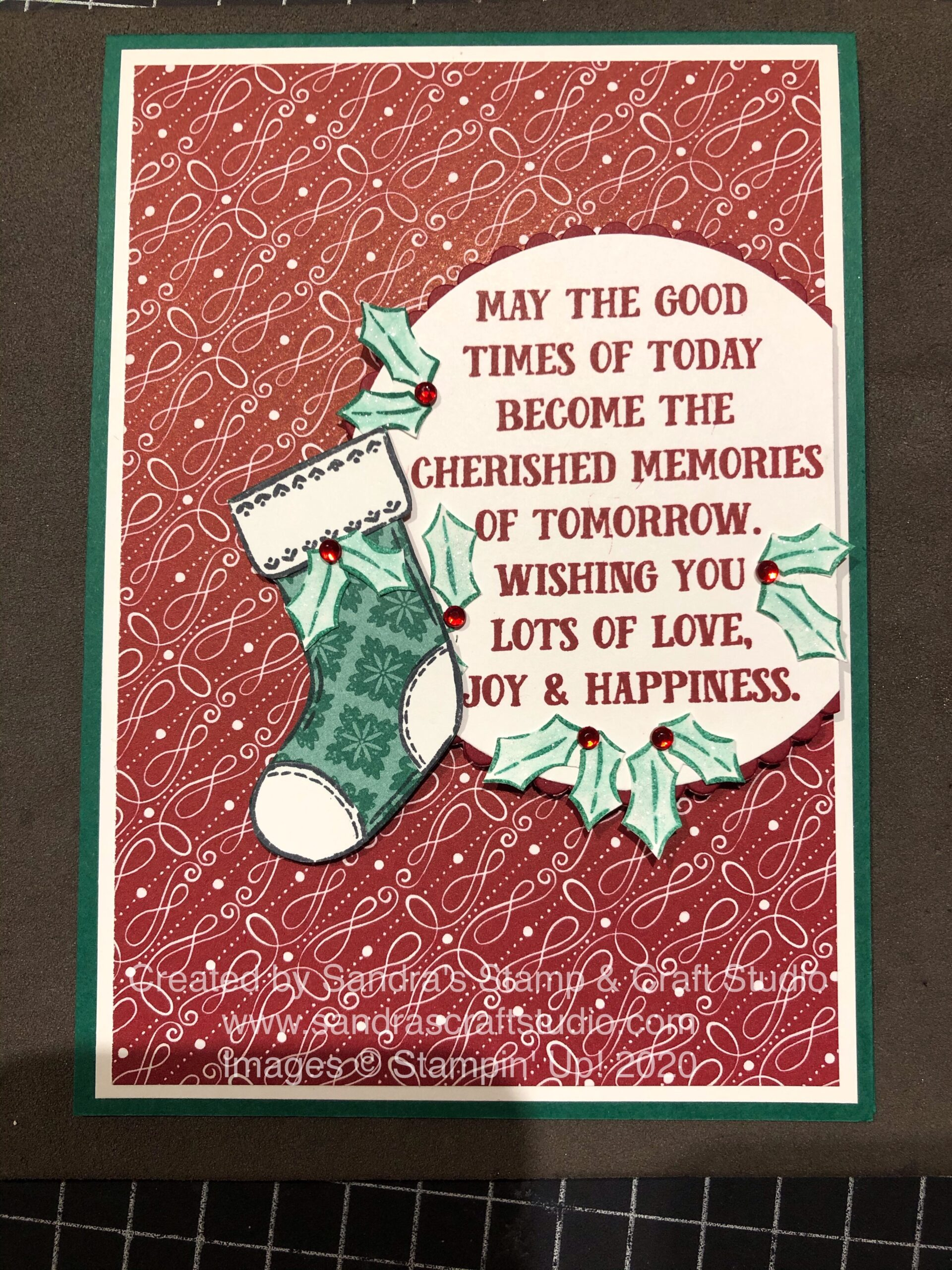 Sharing a Handmade Christmas card using Tag Buffet stamp set from Stampin' Up!