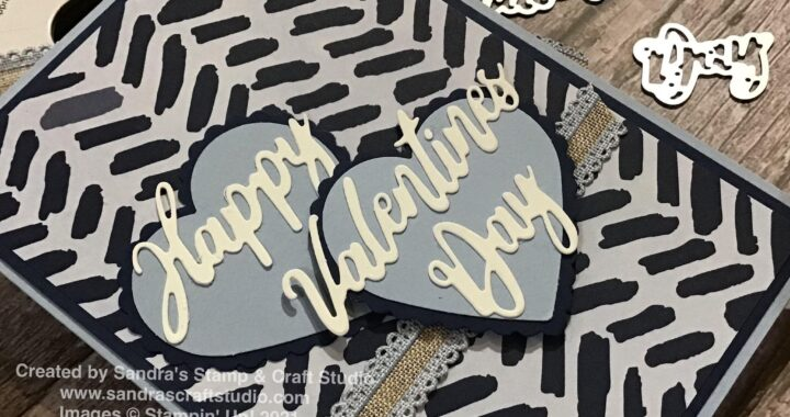 Handmade Masculine Valentine's Day card using Stampin' Up! supplies