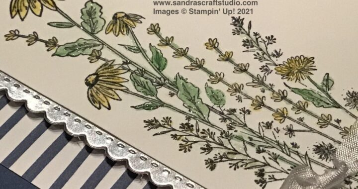 Handmade card created using Stampin' Up! Dandy Garden stamp and Die bundle