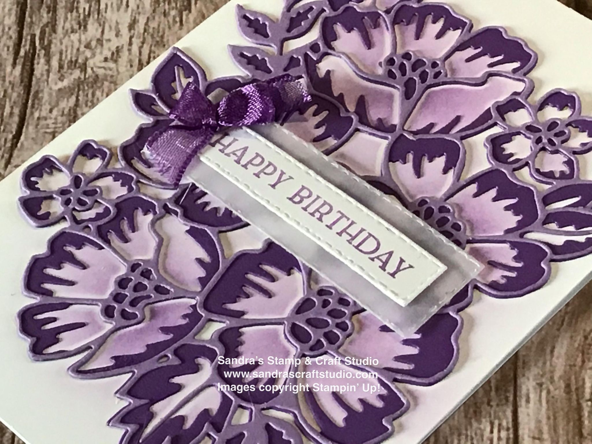 Handmade card created using Blossoms In Bloom Stamp & Die bundle from Stampin' Up!