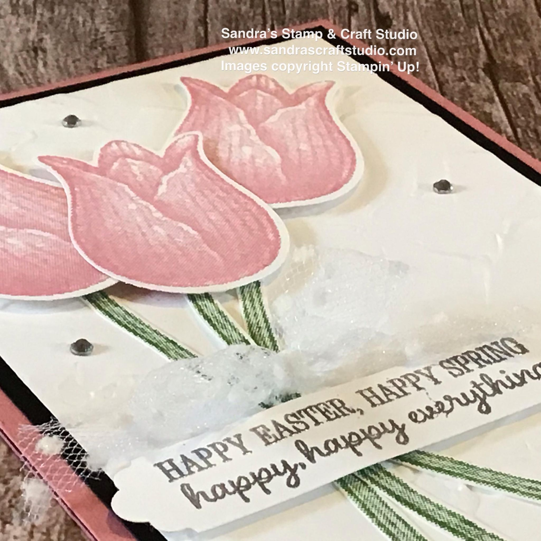 Handmade Card using Timeless Tulips stamps & punch from Stampin' Up!