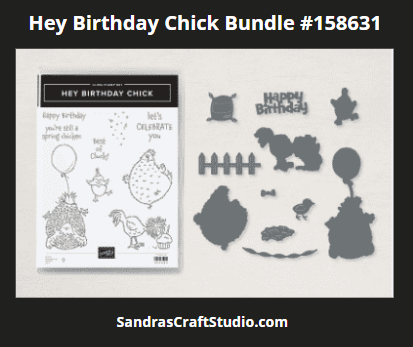 Hey Birthday Chick bundle to create motion card