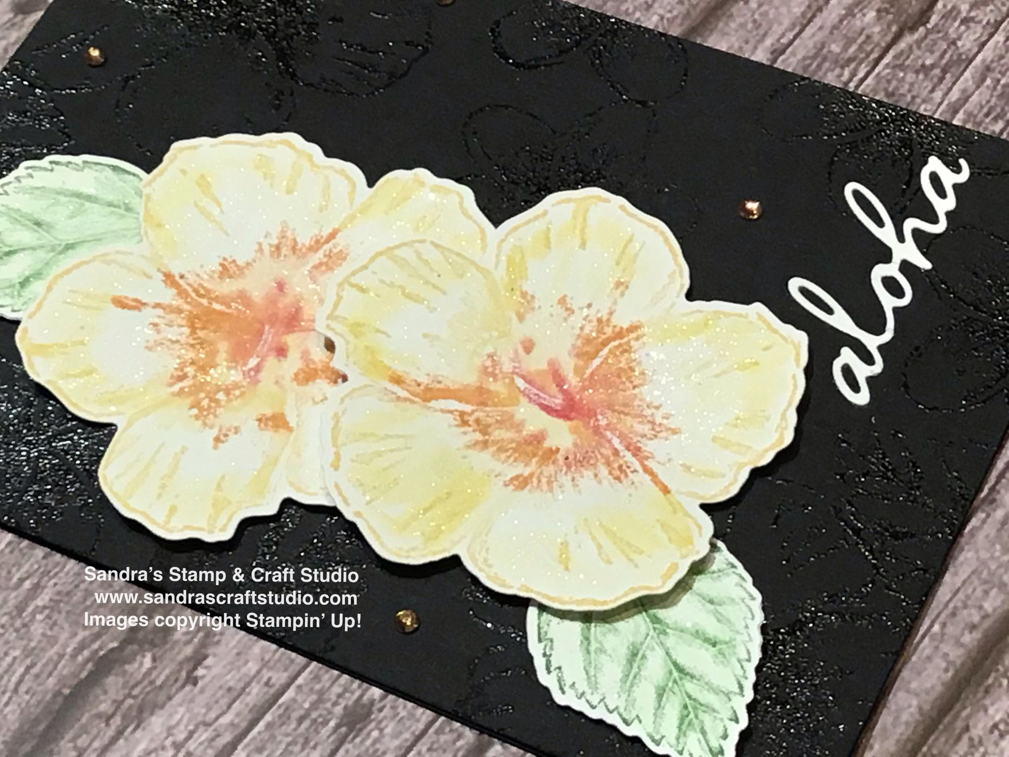 Welcome card and 'Aloha' for Tech 4 Stampers Blog Hop
