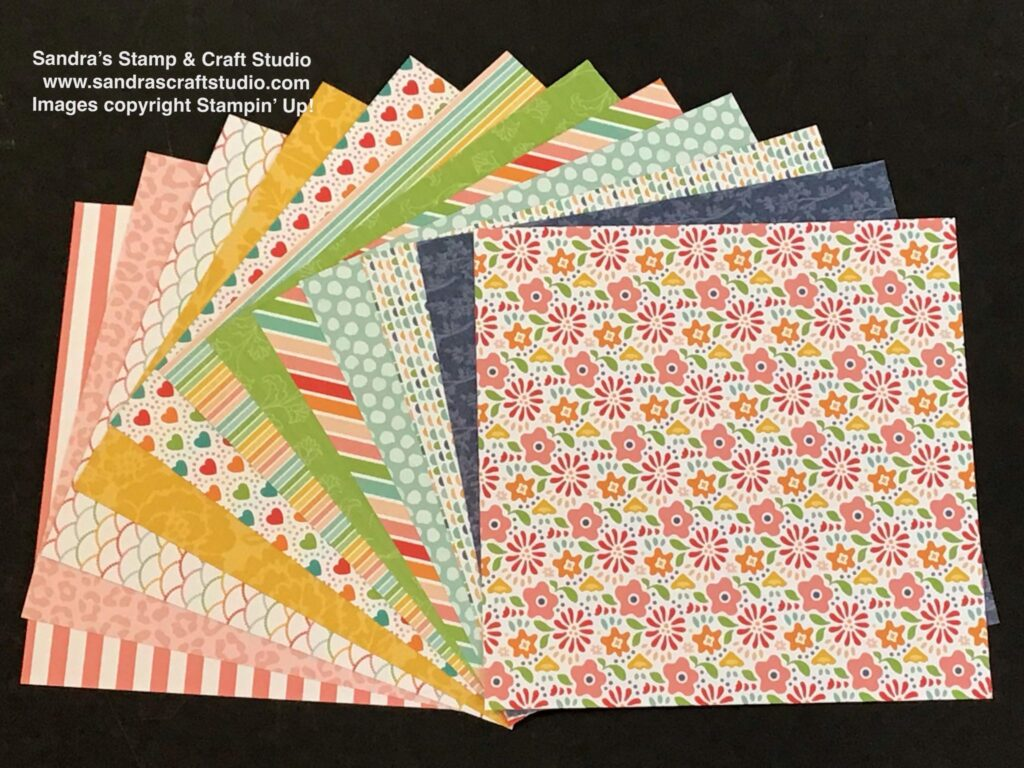Handmade card made with Pattern Party Designer Series Paper FREE Host Reward choice