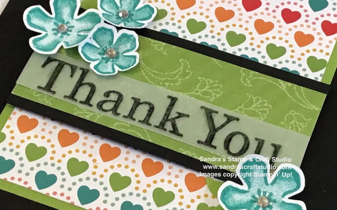 NEW Pattern Party Thank You cards for Stamptastic Friends Blog Hop