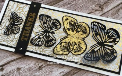 Butterfly Brilliance Tall & Slim card