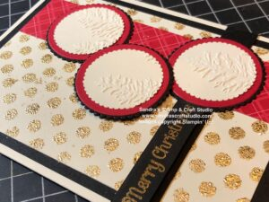 Handmade card using Gilding Flakes for Sketch Challenge