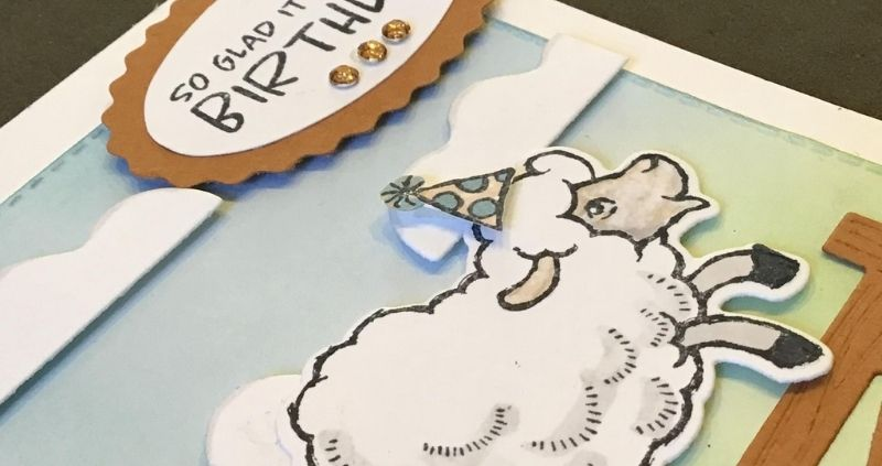 Handmade Birthday card featuring Sheep from Stampin' Up! Sale-A-Bration 2021