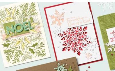 Colouring with Festive Foliage CASEing the Catalogues